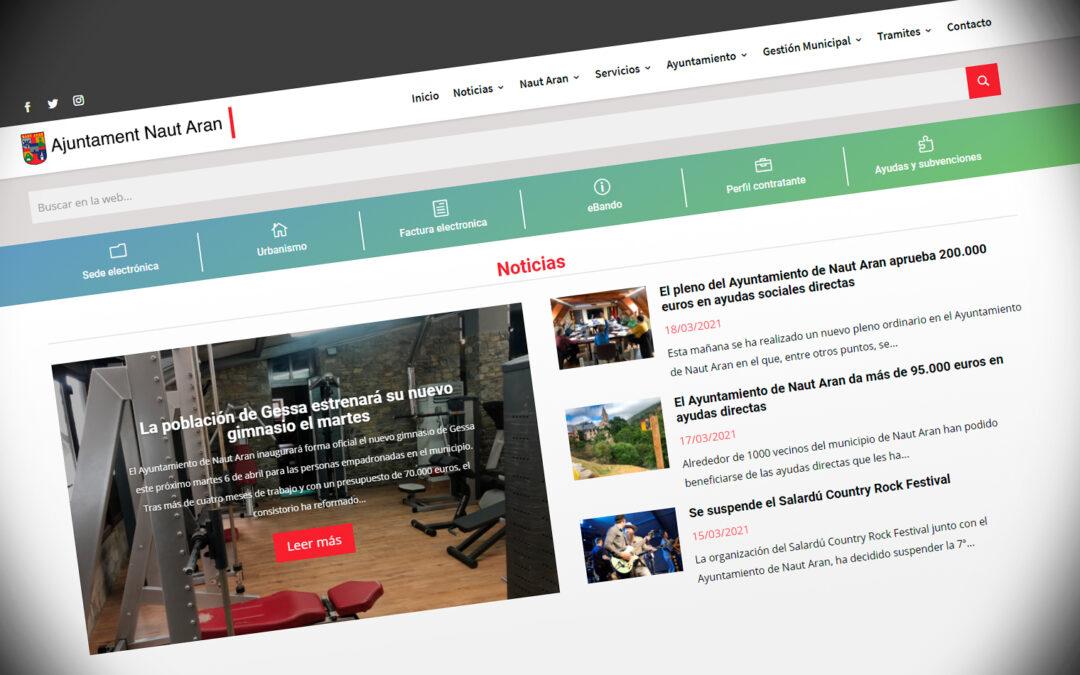 Web Ajuntament de Naut Aran